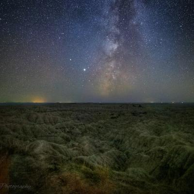 Badlands Under the Milky Way