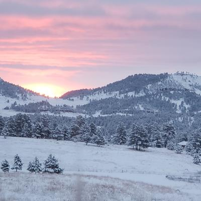 Sunrise Over 7 Sisters Hot Springs, SD