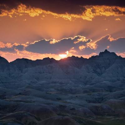 Sunset Over the Badlands
