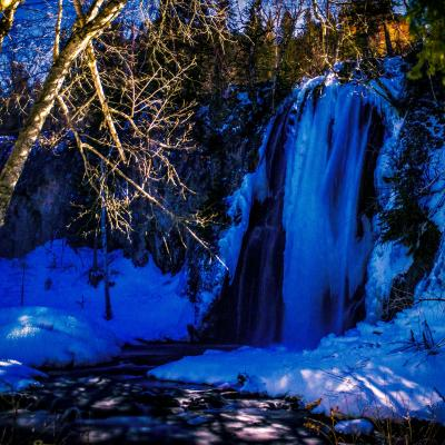 Blue Hour at Spearfish Falls