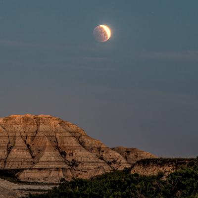 Lunar Eclipse in the Badlands May 26, 2021