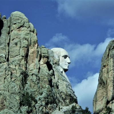 Mt. Rushmore From Side View.