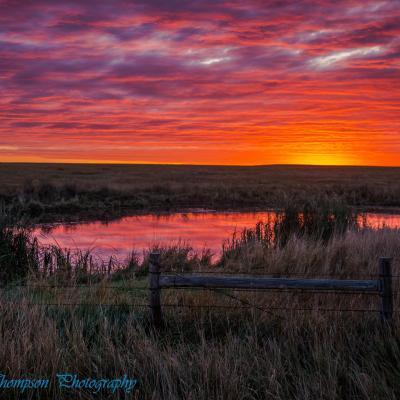 Sunrise Over Buffalo Gap National Grasslands
