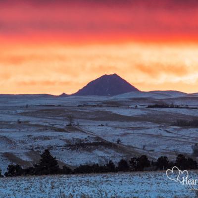 Winter Sunrise Splash of Color