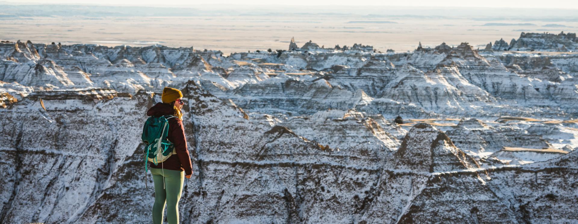 Winter in Badlands National Park