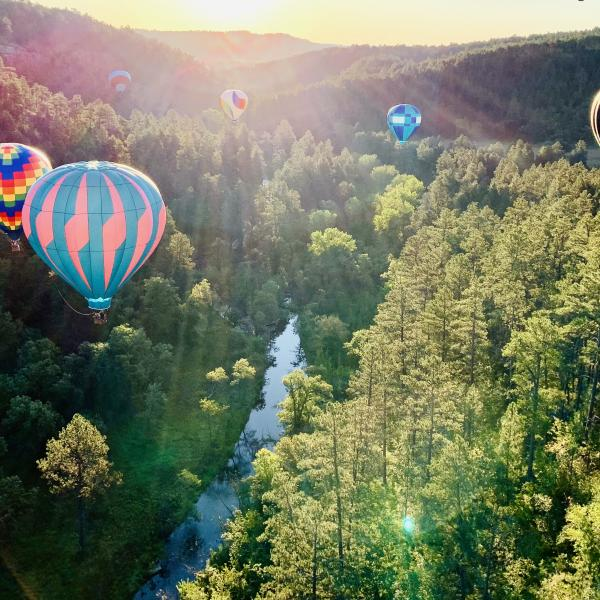 Flying Down Spring Creek Canyon.