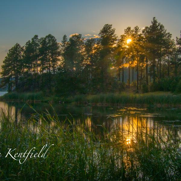Sunset off Stockade Lake