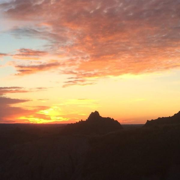 Sunset at the Badlands