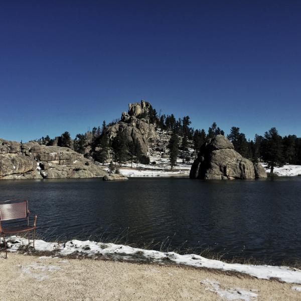 A Snowy Day at Sylvan Lake