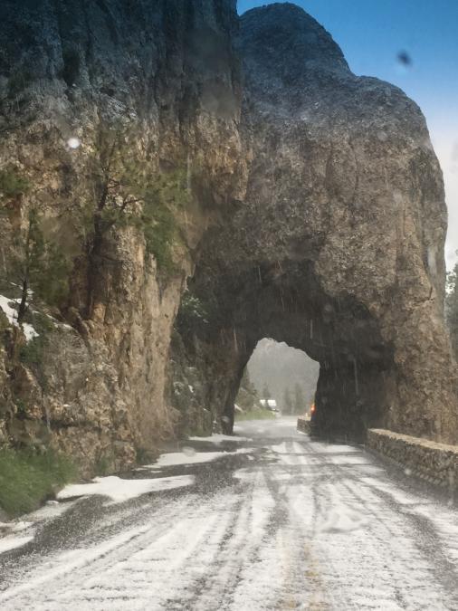 Hail on Needles Highway