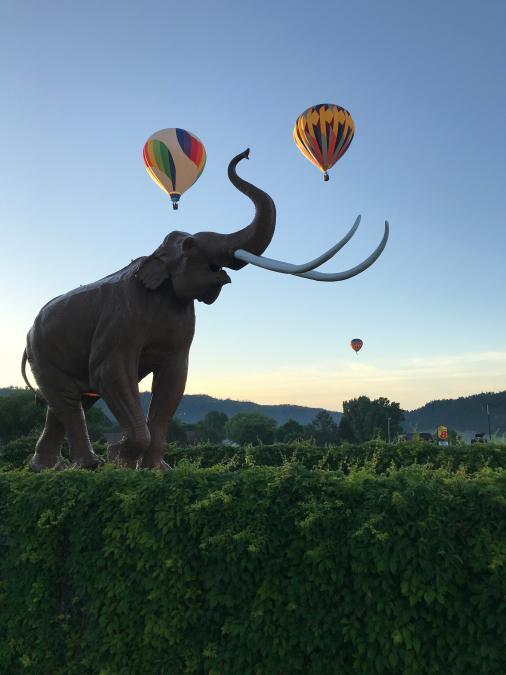 Mammoth Site Balloon Launch