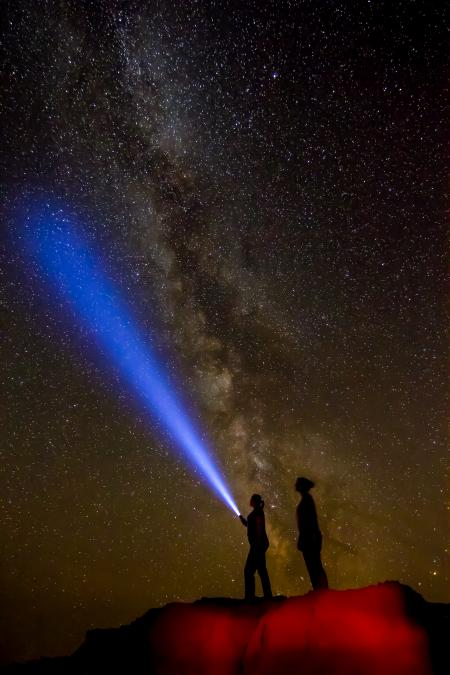 Stary Night in the Badlands