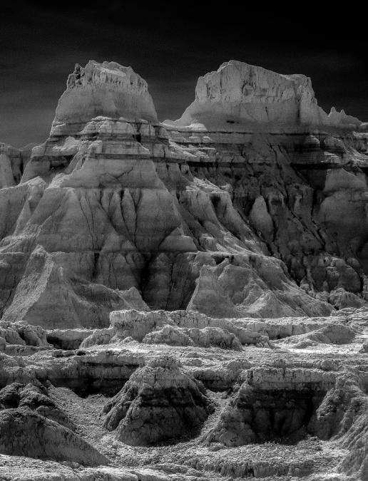 Badlands Black and White