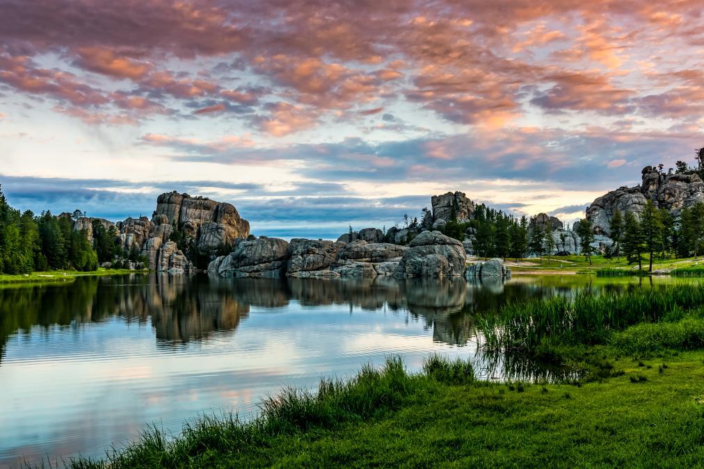 Sundown at Sylvan Lake