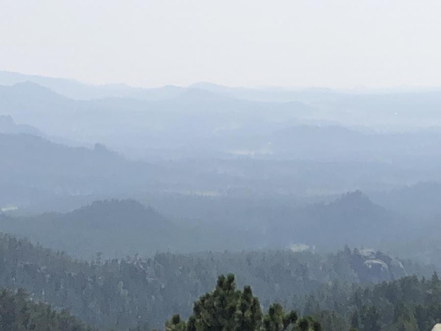 Smoky View From Needles Highway