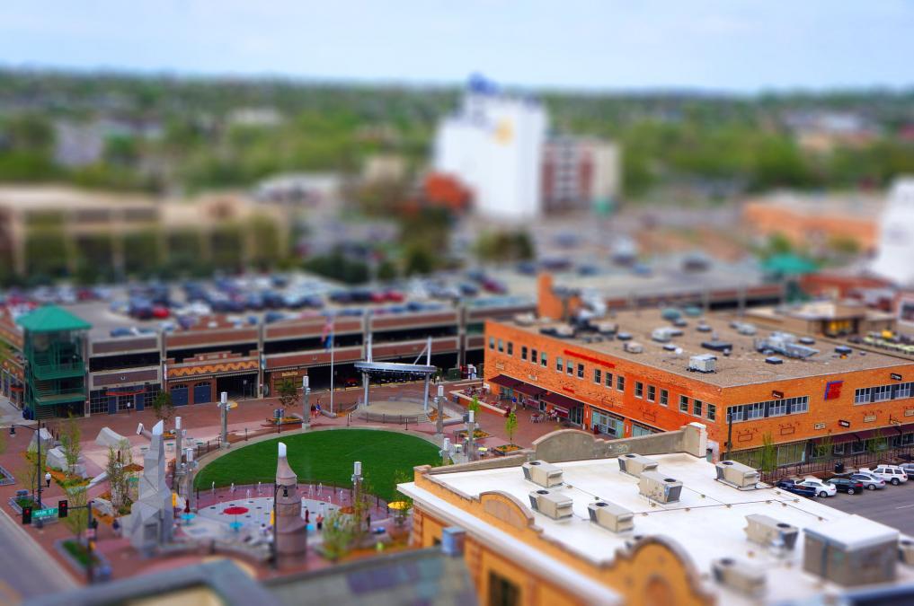 Miniature Main Street Square