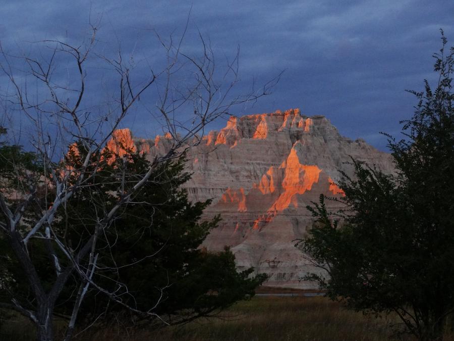 Sunset at Cedar Pass Lodge