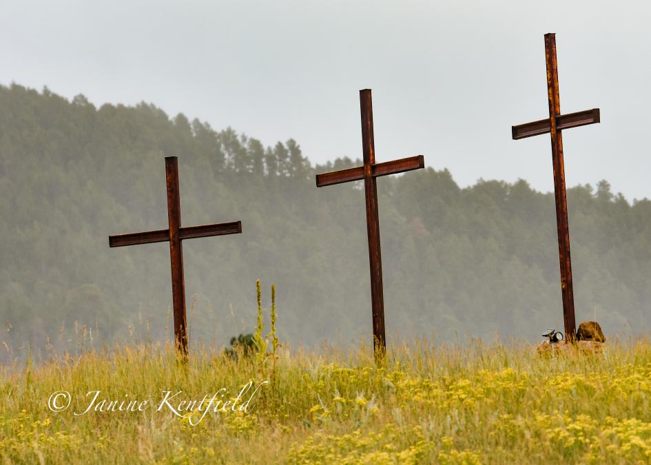The Three Crosses in Early Autumn