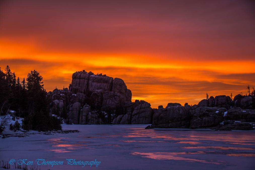 Sylvan Lake Sunset — Custer State Park