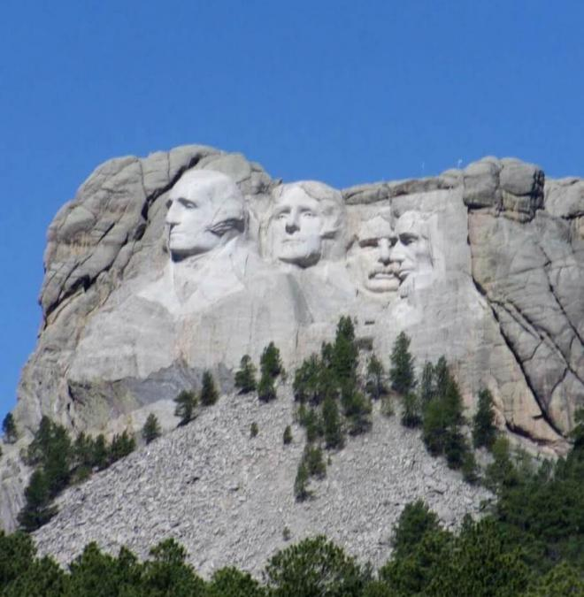 Mount Rushmore, slightly different