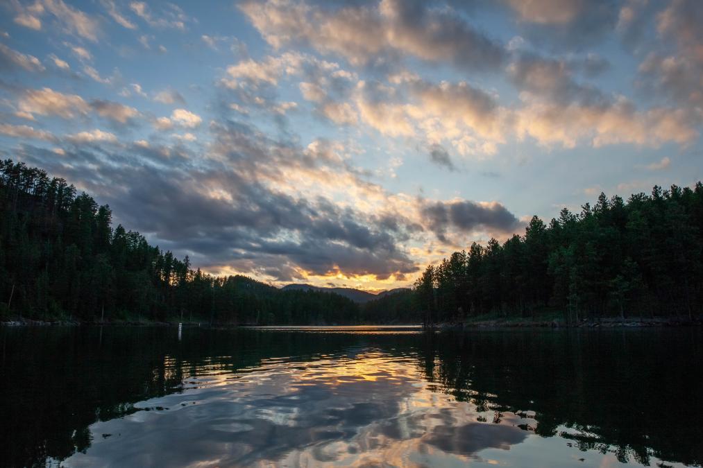 Sunset Kayak on Pactola Lake