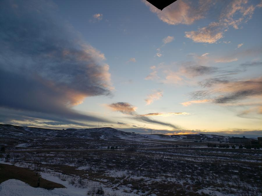 A Cloudy Sunset