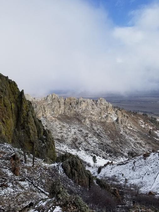 Bear Butte Hike on a Foggy Day
