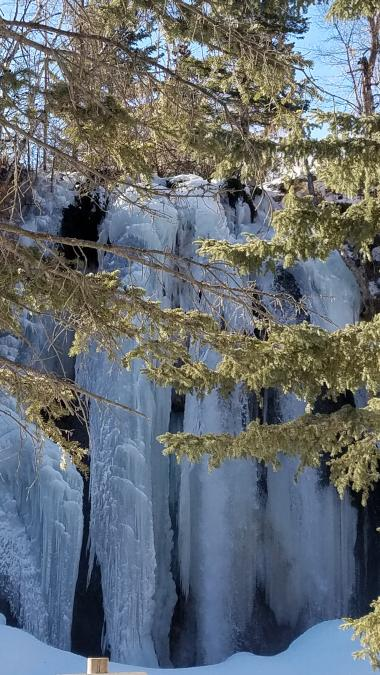 Frozen Spearfish Falls