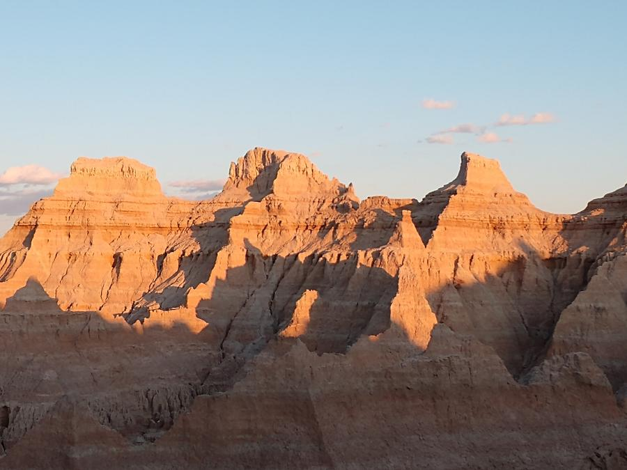 Badlands in the Evening