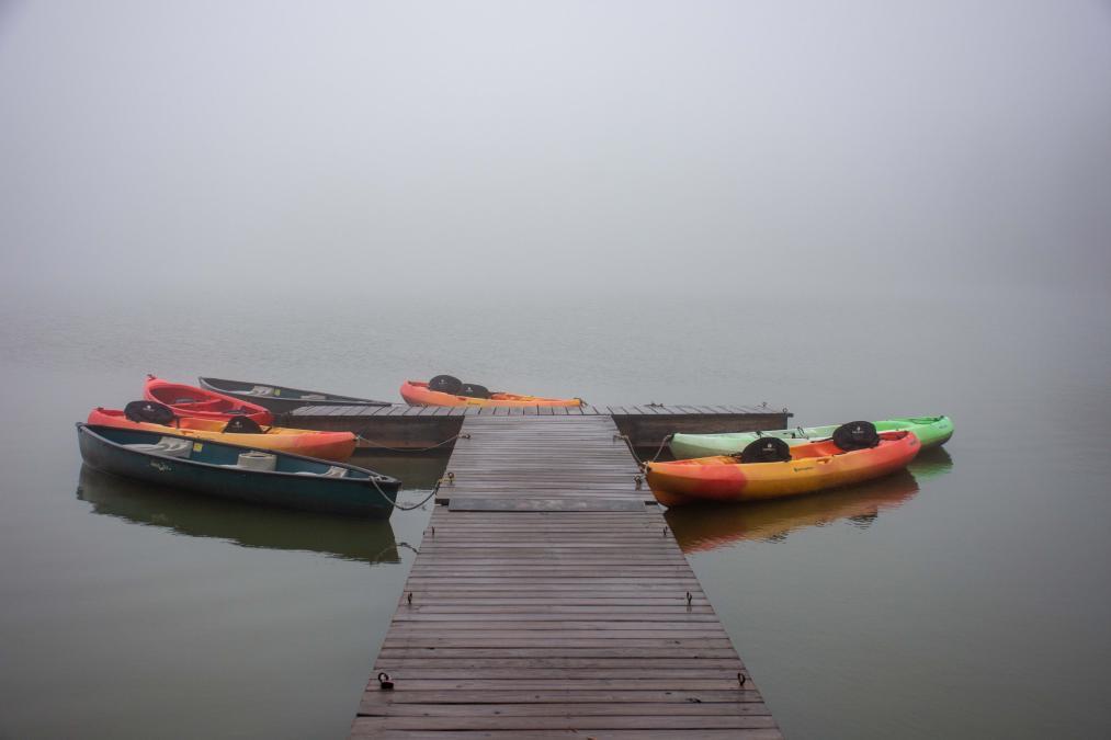 Foggy Day On Sylvan Lake