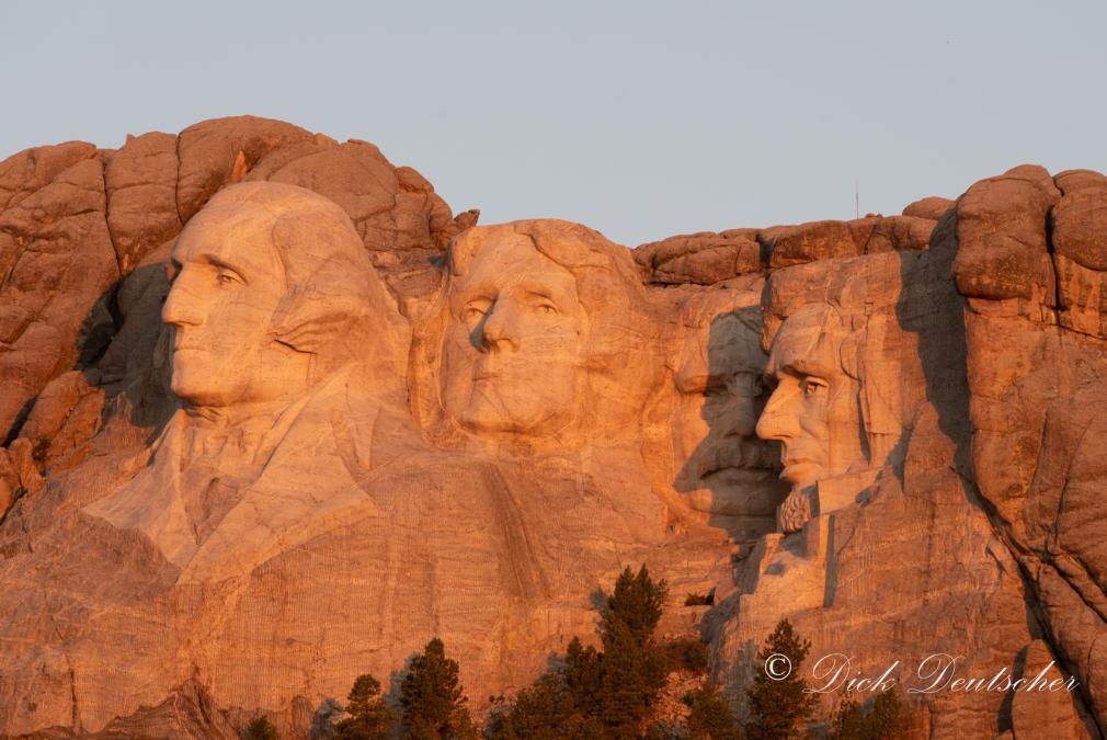 Golden Hour at Mount Rushmore