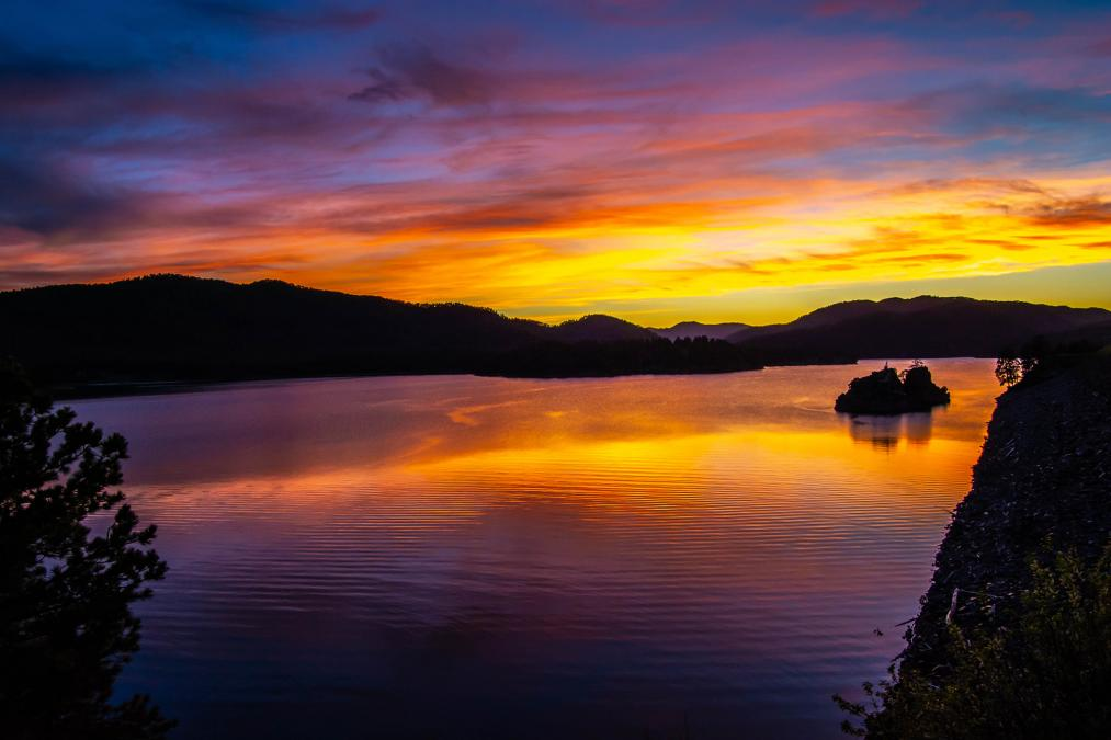 Sunset at Pactola