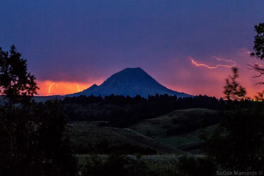 Lightning Over Bear Butte