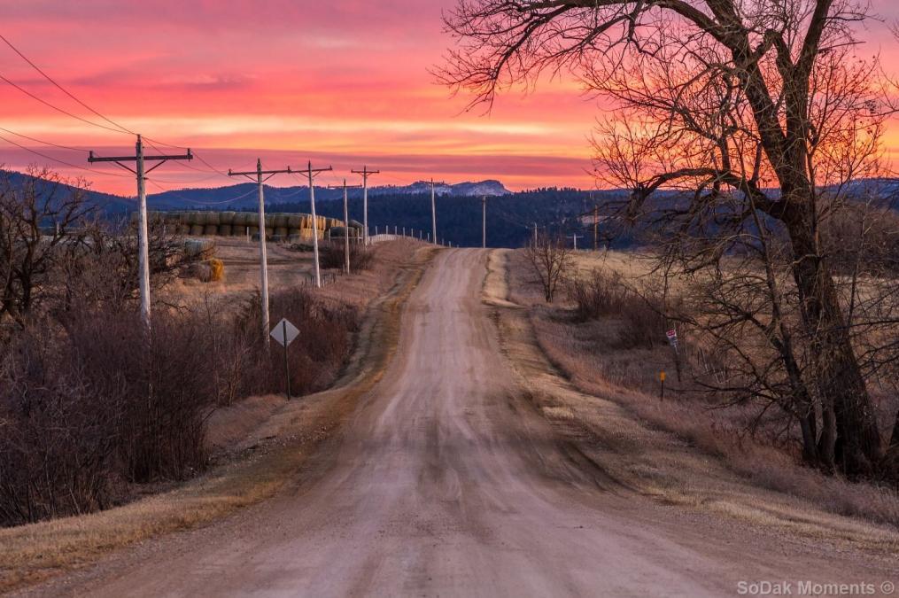 Sunset over Dane Church Road