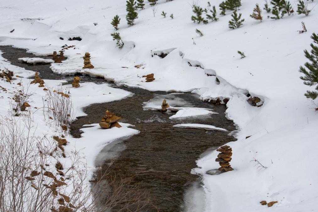 Alien Rock Formations along Whitewood Creek