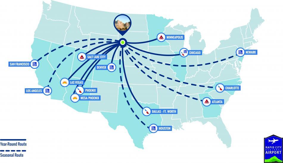 Airline Services | Black Hills & Badlands - South Dakota
