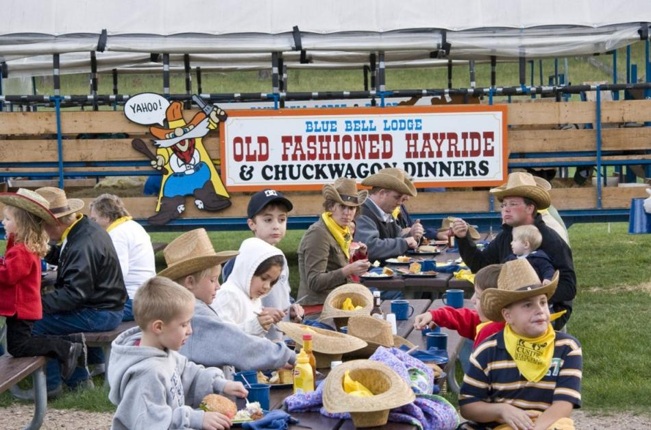 Black Hills Chuckwagon Blue Bell Cookout Custer State Park Resort
