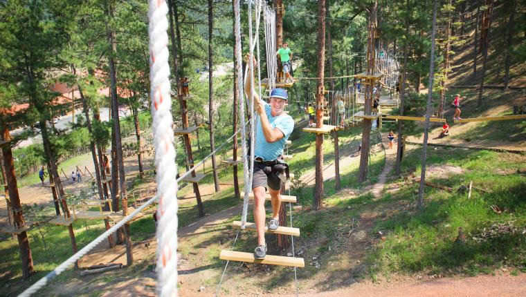 Aerial Adventure Park at Rushmore Tramway Adventures