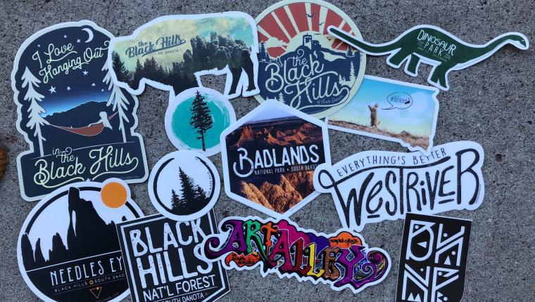 Black Hills Stickers & Apparel