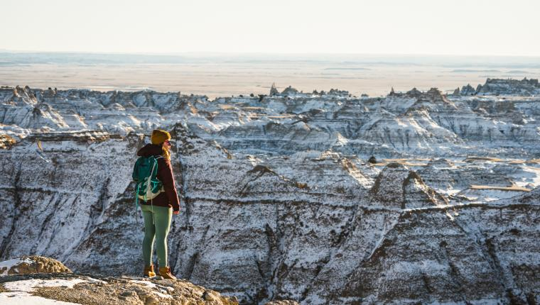 Winter in Badlands National Park