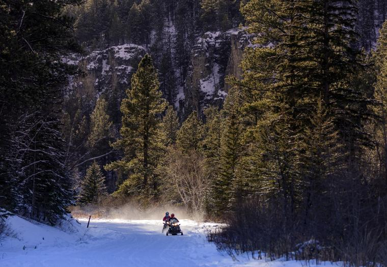 Discover White Gold in the Black Hills When You Snowmobile Here