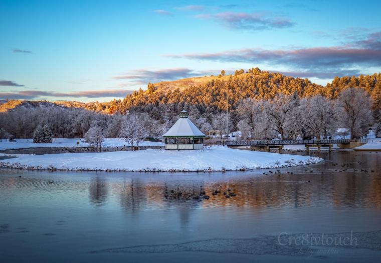December Morning at Canyon Lake in Rapid City