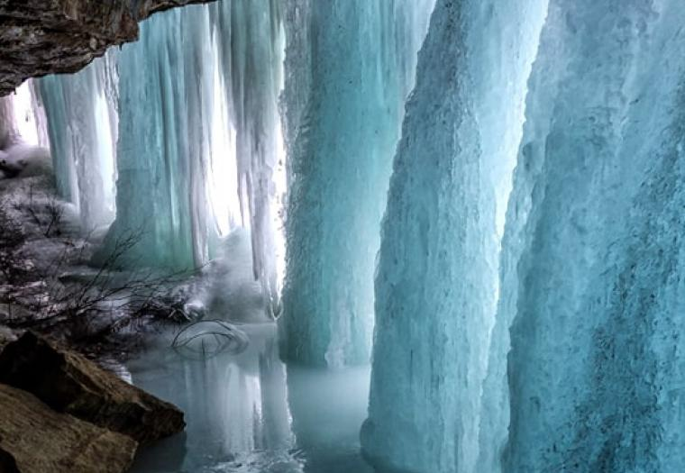 Spearfish Canyon Ice Formations