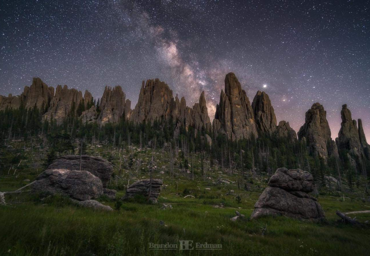 Milky Way over the Cathedral Spires