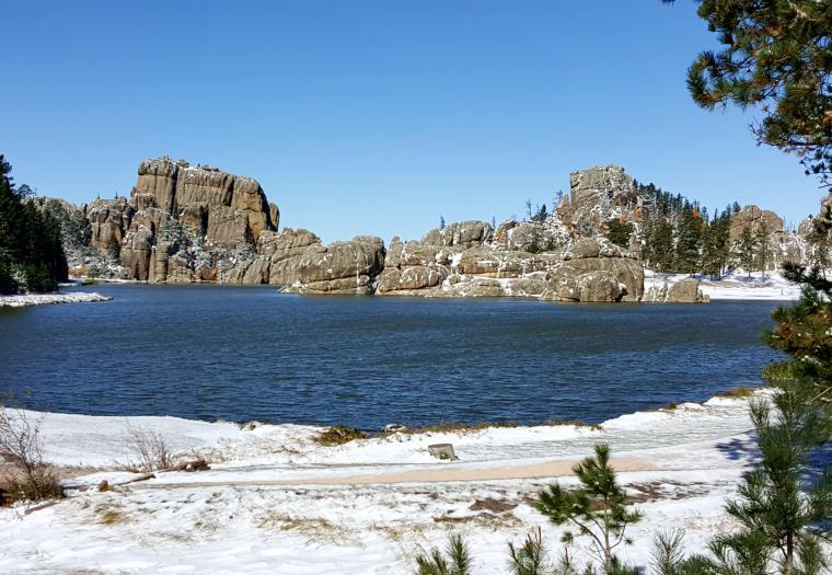 Snowdust on Sylvan Lake