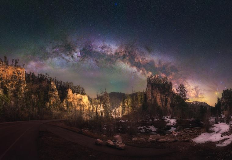 Spearfish Canyon Milky Way Panorama
