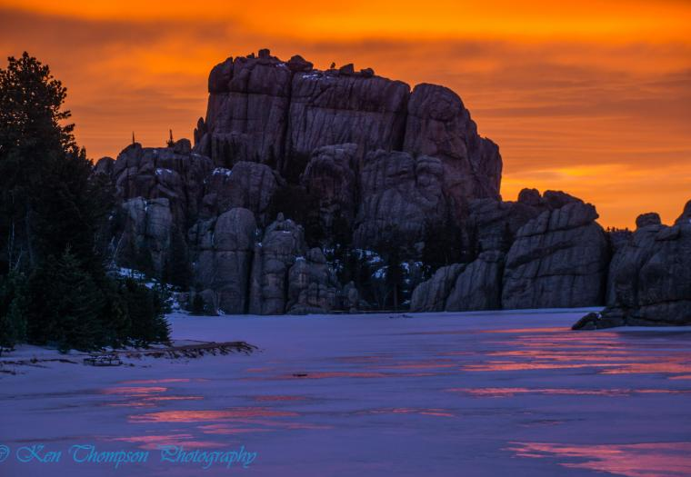 Sylvan Lake Sunset - Custer State Park