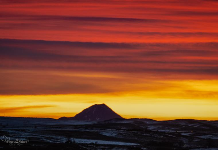 Morning Wash of Warmth on Bear Butte