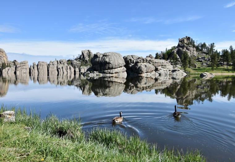 Morning at Sylvan Lake