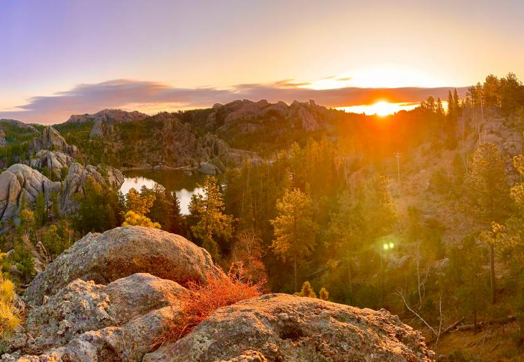 Sunrise Over Lake Sylvan